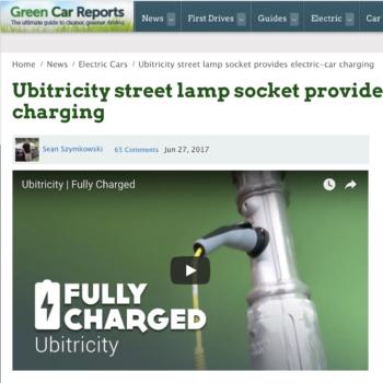Ubitricity street lamp socket provides electric-car charging