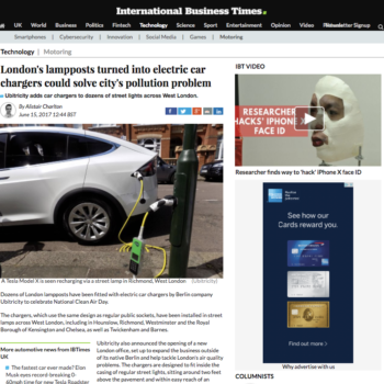 London's lampposts turned into electric car chargers could solve city's pollution problem
