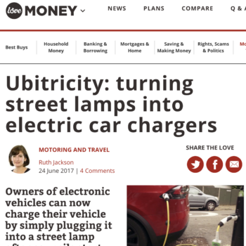 Ubitricity: turning street lamps into electric car chargers