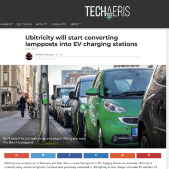 Ubitricity will start converting lampposts into EV charging stations