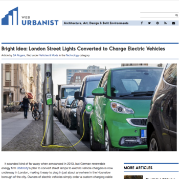 Bright Idea: London Street Lights Converted to Charge Electric Vehicles
