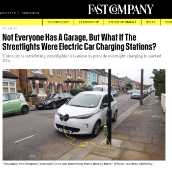 Not Everyone Has A Garage, But What If The Streetlights Were Electric Car Charging Stations?