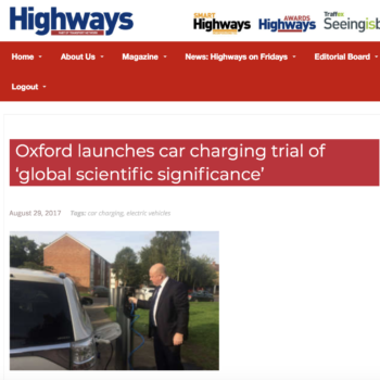 Oxford launches car charging trial of 'global scientific significance'