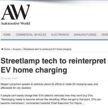 Streetlamp tech to reinterpret EV home charging