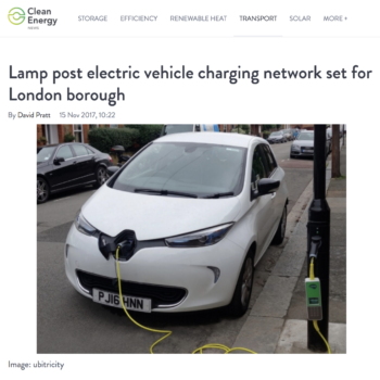 Lamp post electric vehicle charging network set for London borough