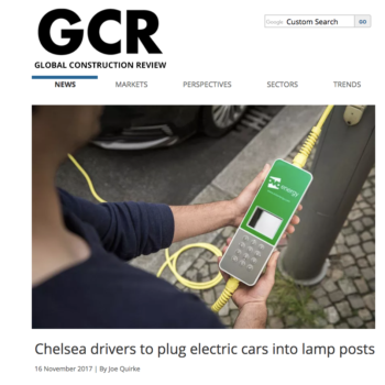 Chelsea drivers to plug electric cars into lamp posts