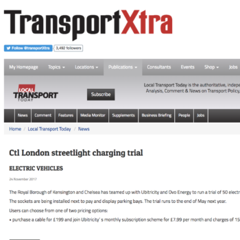 Ctl London streetlight charging trial